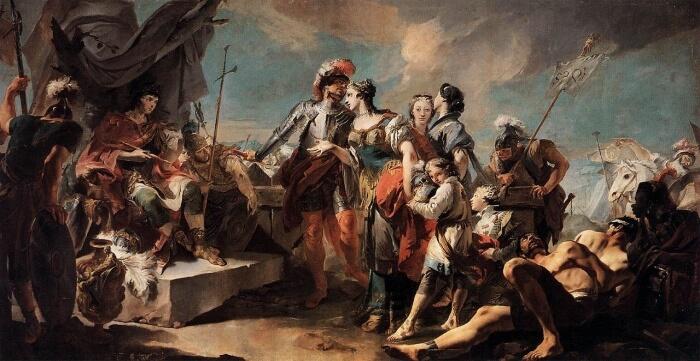 Zenobia před Aurelianem