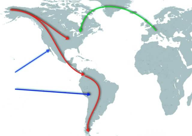 mapa migrace