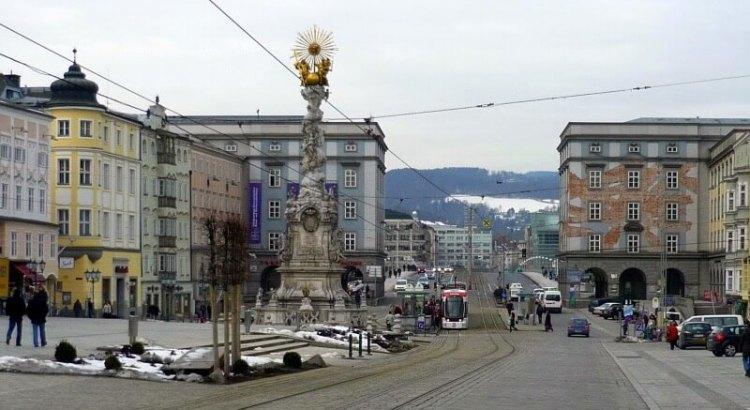 Hlavní náměstí v Linci