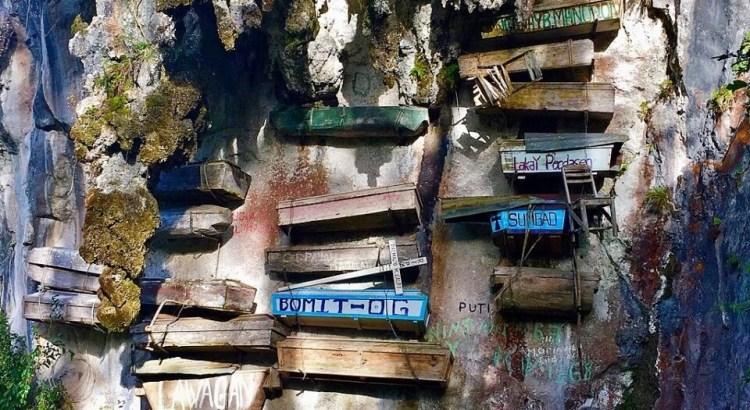 zavěšené rakve na Filipínách