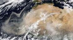 Saharský prach mířící na Evropu