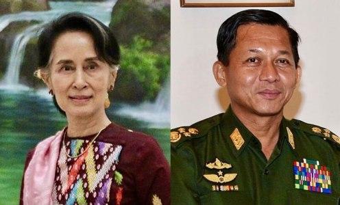 Aun Schan Su Ťij aMin Aung Hlaing