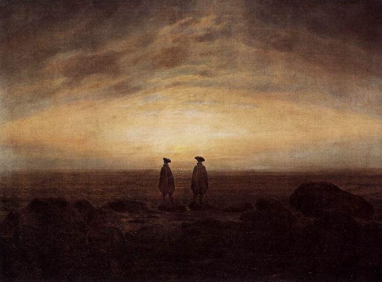 dva muži u moře