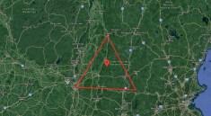 Přibližné vymezení Benningtonského trojúhelníku