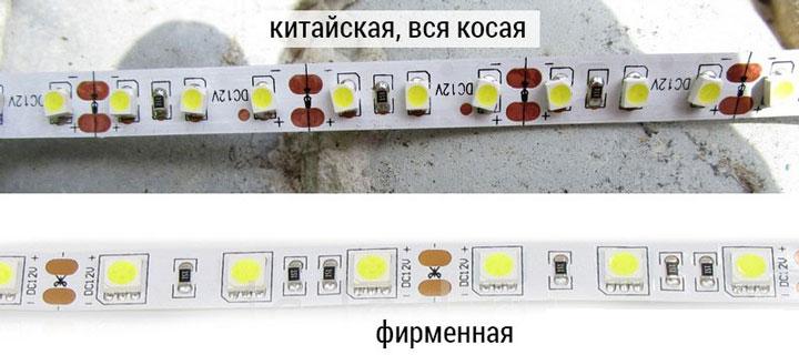 különbségek az olcsó és a márkás LED-szalag között