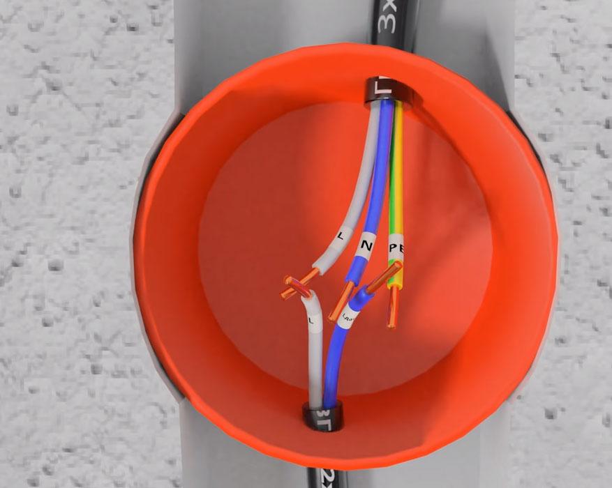 Kabel dua-perumahan untuk sensor gerak