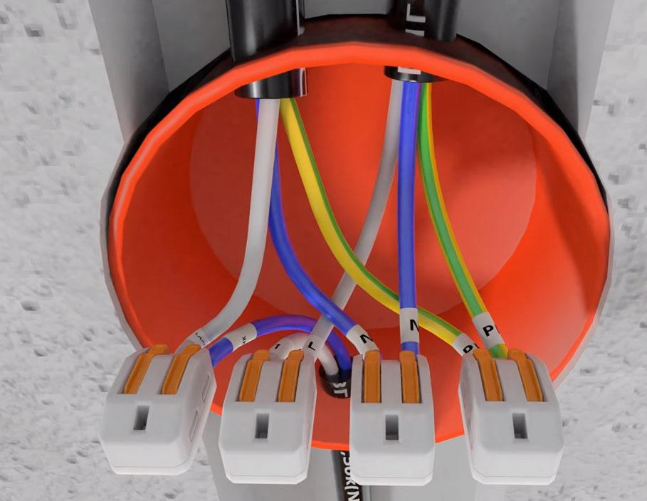 Diagram koneksi dan menghubungkan kabel di camshaft per sensor gerak