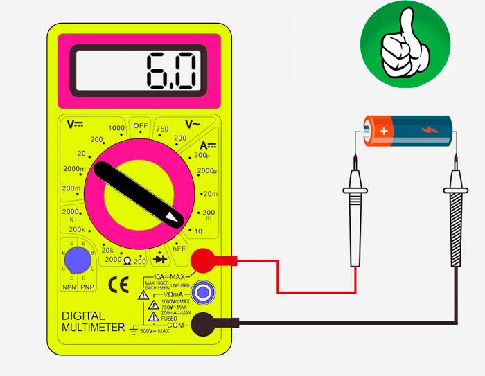 Πώς να ελέγξετε το πολυμέτρημα της μπαταρίας με το ρεύμα στην απόδοση