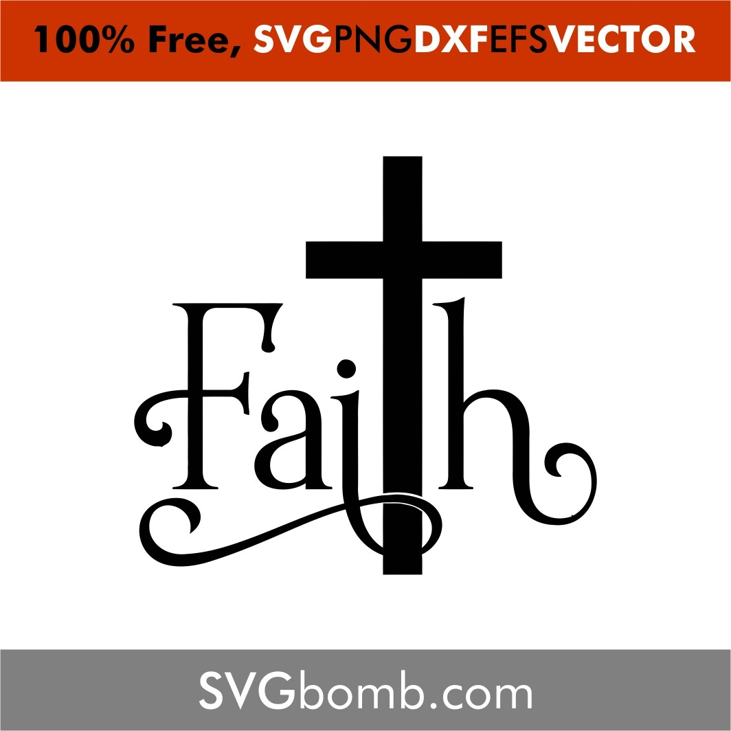 Download Faith Cross | SVGbomb.com