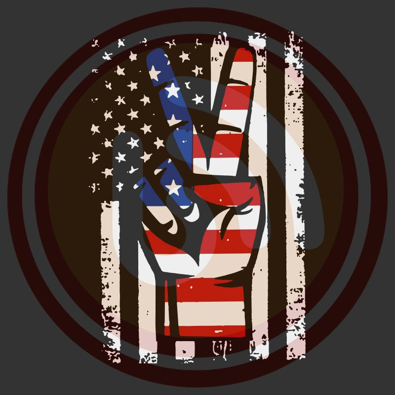 Download American flag peace sign hand svg, hand 4th of july ...