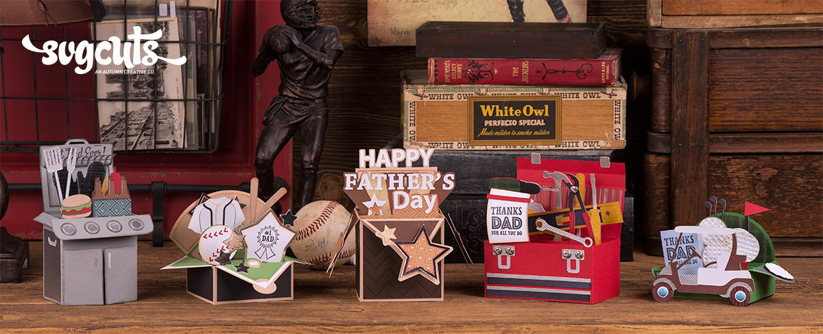 Fathers Day Box Cards SVG Kit 699 SVG Files For