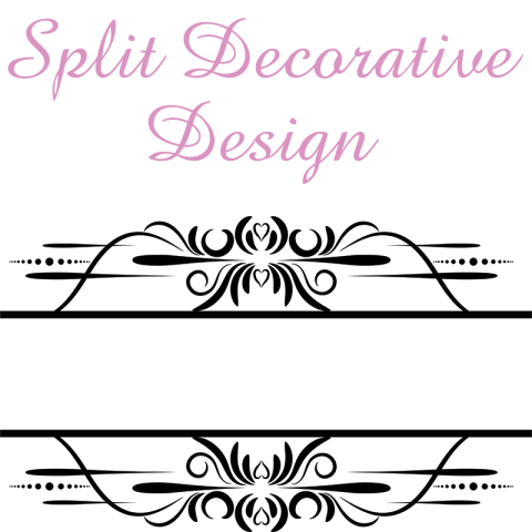 split decorative svg file