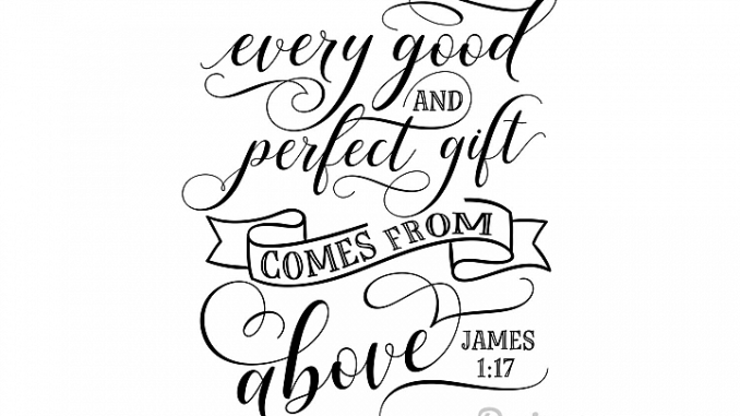 Free SVG File, Every Good And Perfect Gift Comes From Above