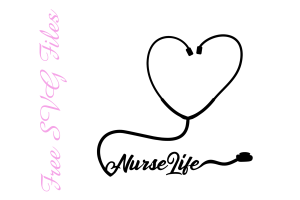 Nurse Life Stethescope Free SVG File