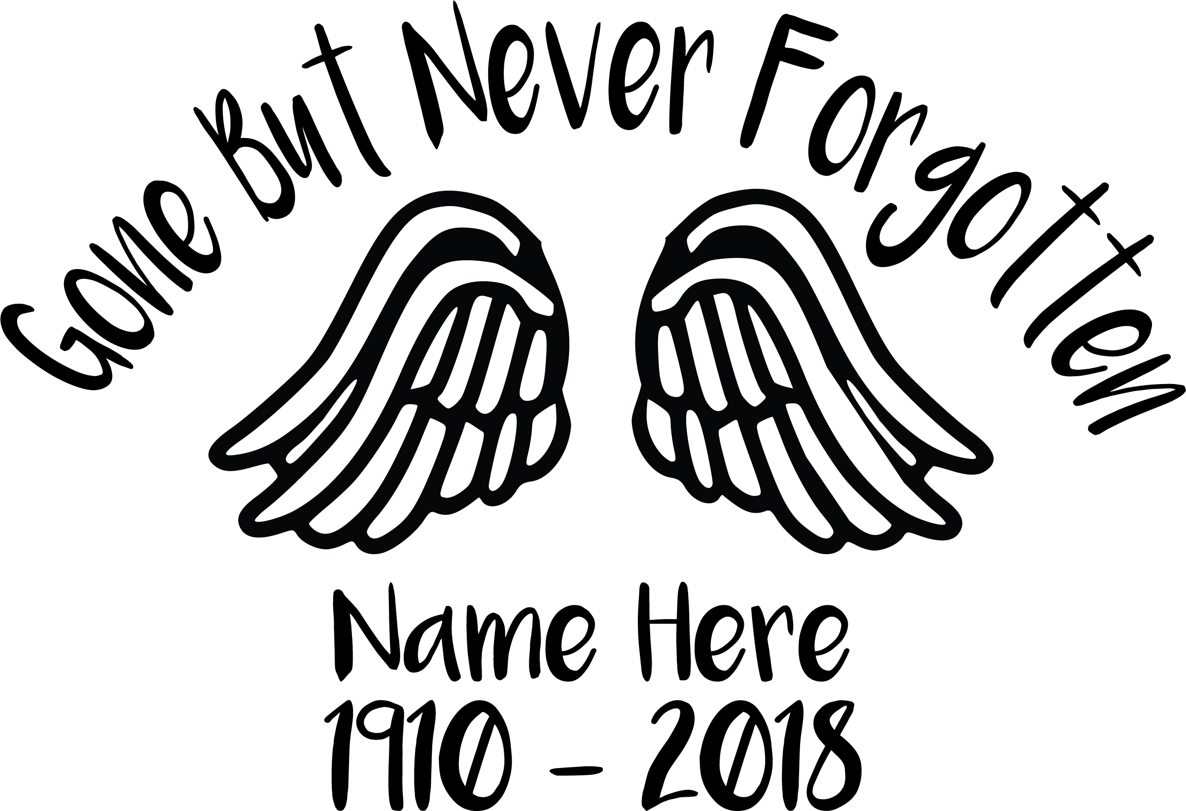 Download Gone But Never Forgotten Free SVG | SVG Files Free