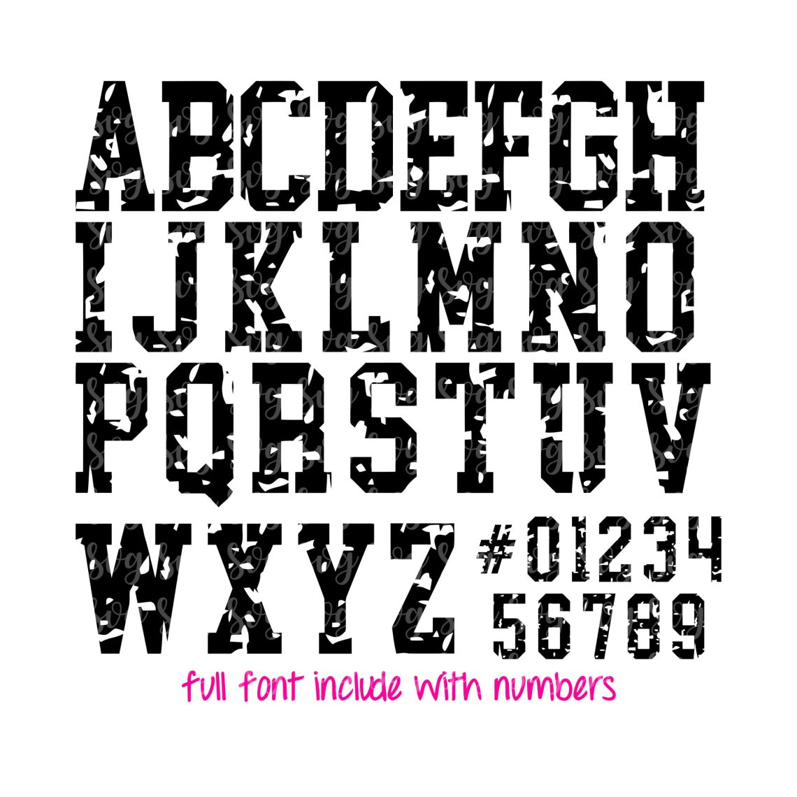 Download Jersey Grunge Font svg, grunge font svg , football font ...