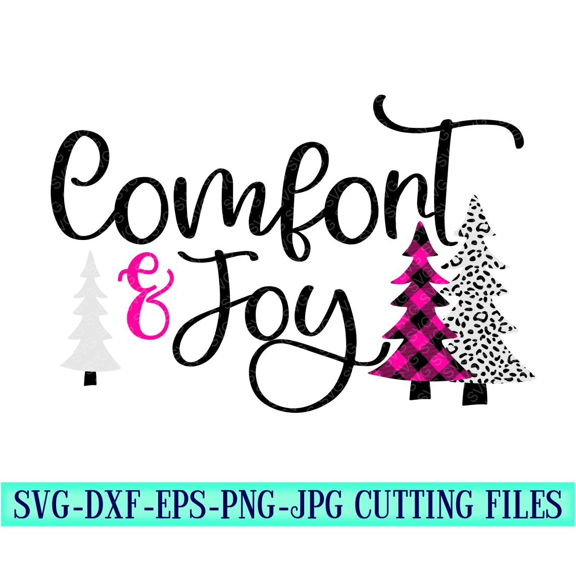 Download comfort and joy svg, christmas tree svg, plaid svg ...