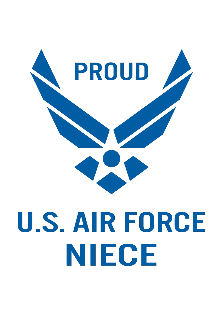 Download Proud US Air Force Niece Logo Free SVG File - SvgHeart.com