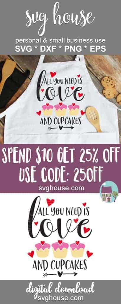 Download All You Need Is Love And Cupcakes SVG Files For Cricut And ...