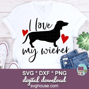 Download I Love My Wiener SVG Dachshund Cut Files For Cricut and ...