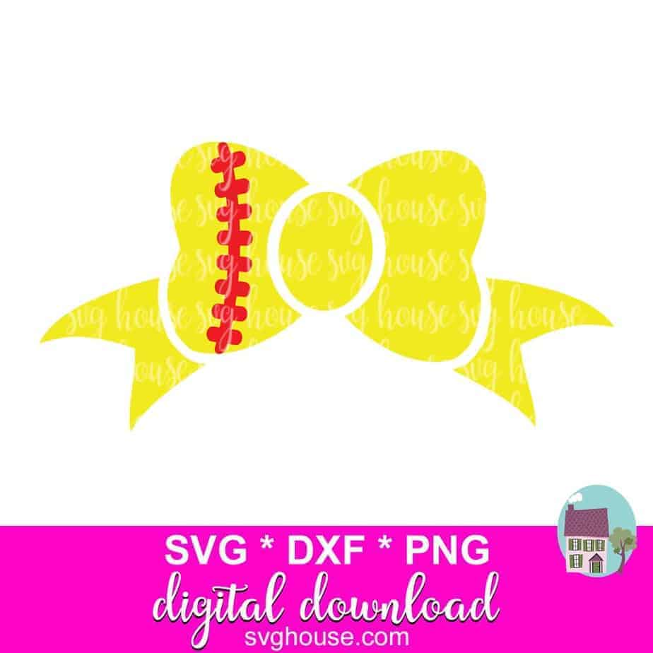 My heart softball svg, dxf, eps, png, jpg, pdf. Softball Bow Svg For Cricut And Silhouette Svg Dxf Png