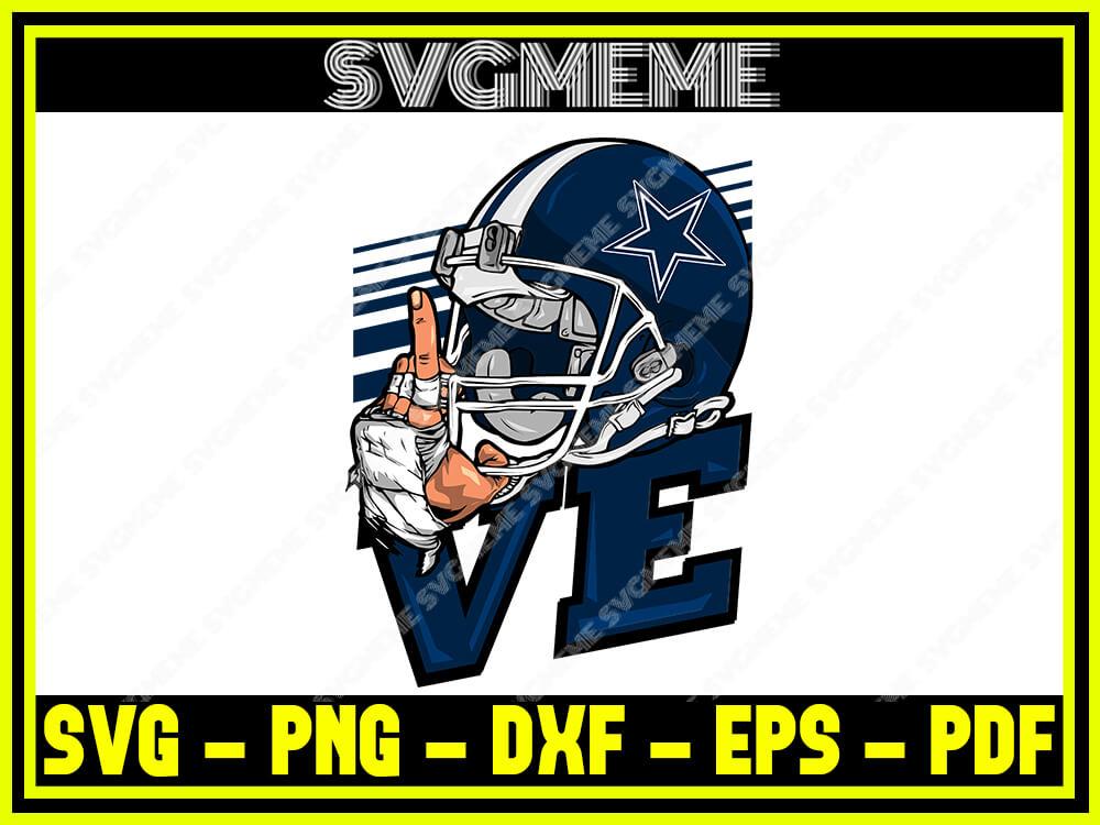 Download Love Dallas Cowboys Nfl SVG PNG DXF EPS PDF Clipart For ...