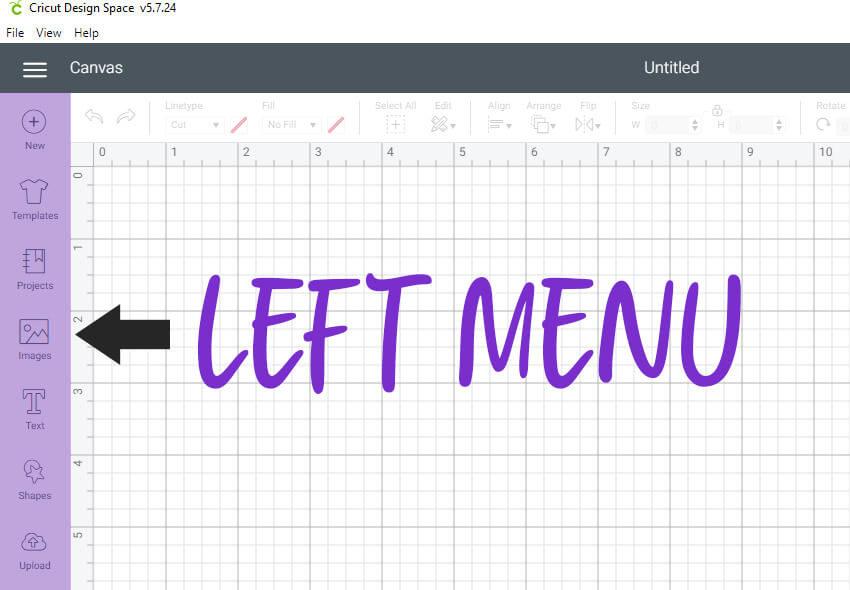 left-menu-cricut-design-space