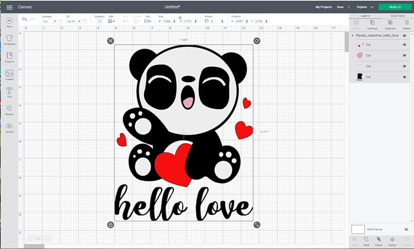 Resize your iron on image in Cricut Design Space