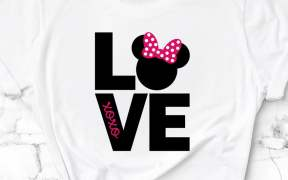 Minnie Mouse Love SVG File
