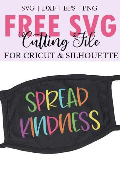 Spread Kindness Face Mask SVG