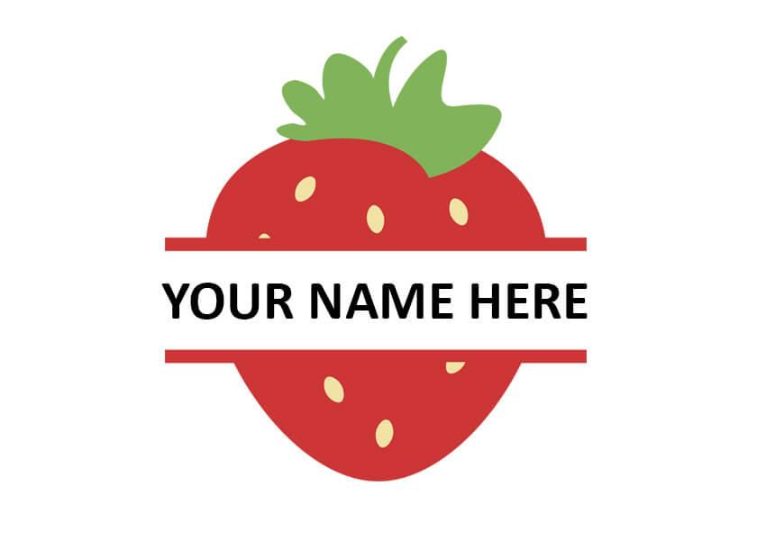 Strawberry Monogram