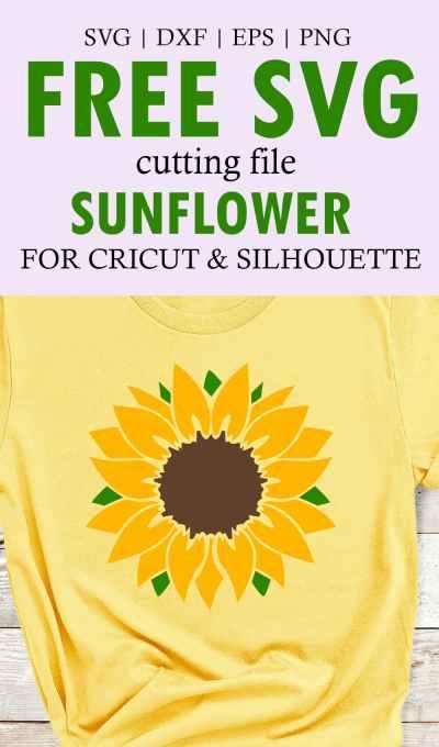 Free Sunflower SVG Cut File