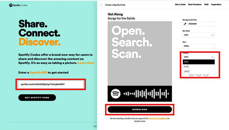 How to get a Spotify code