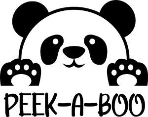 Panda Peek A Boo SVG Download