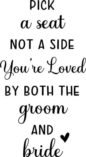 Pick A Side Wedding SVG Cut File