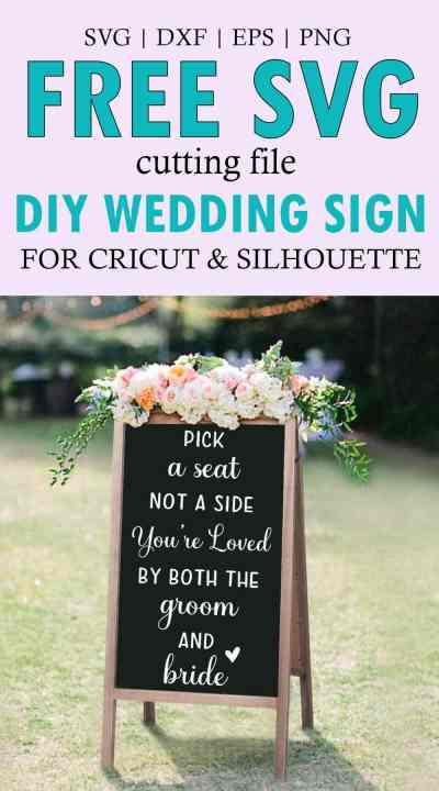 Pick a Seat Wedding SVG Download