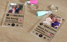 Spotify Song Keychain