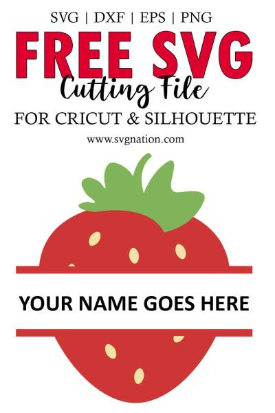 Strawberry Monogram SVG File