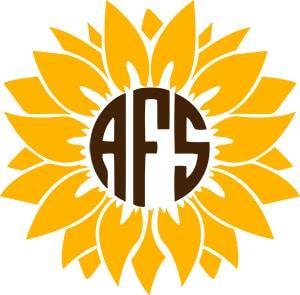 Sunflower Monogram SVG Download