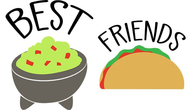 Best Friends Taco and Guacamole SVG Download