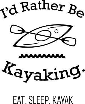 Rather Be Kayaking SVG File