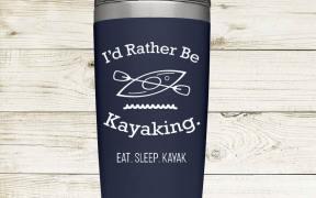 Rather Be Kayaking Tumbler