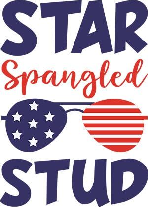 Star Spangled Stud SVG Download