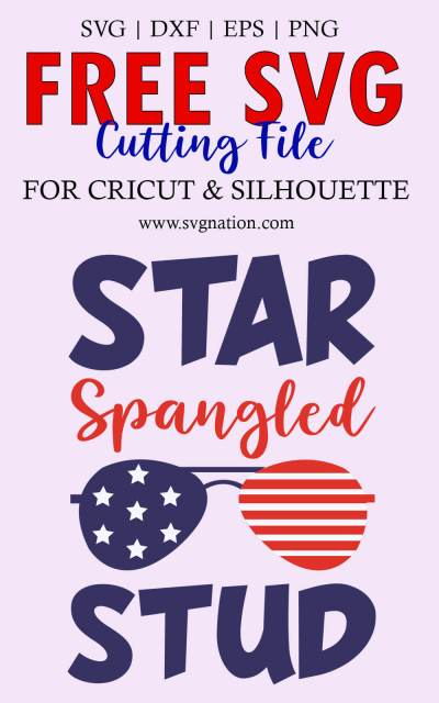 Star Spangled Stud SVG File