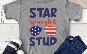 Star Spangled Stud SVG