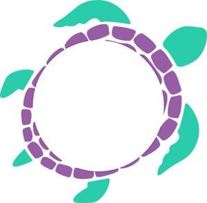Turtle Monogram SVG Download