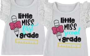 little miss first grade svg file
