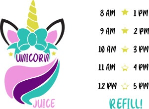 Unicorn Juice Water Bottle SVG File