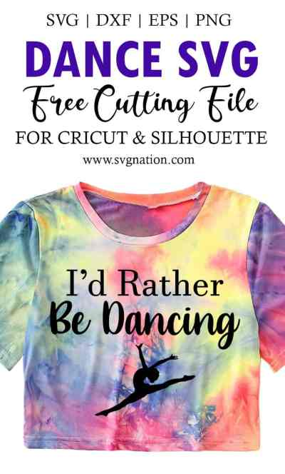 I'd Rather Be Dancing Free SVG