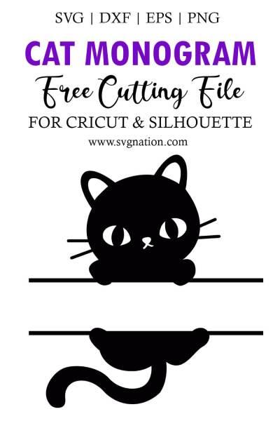 Cat Monogram SVG File